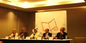 Un momento della conferenza stampa del 23 aprile