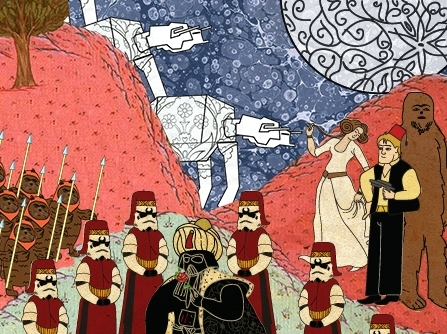 Credits @ Murat Palta 'Star Wars depicted as an Ottoman miniture'