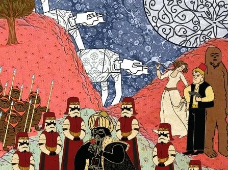 Credits @ Murat Palta 'Star Wars depicted as an Ottoman miniture'