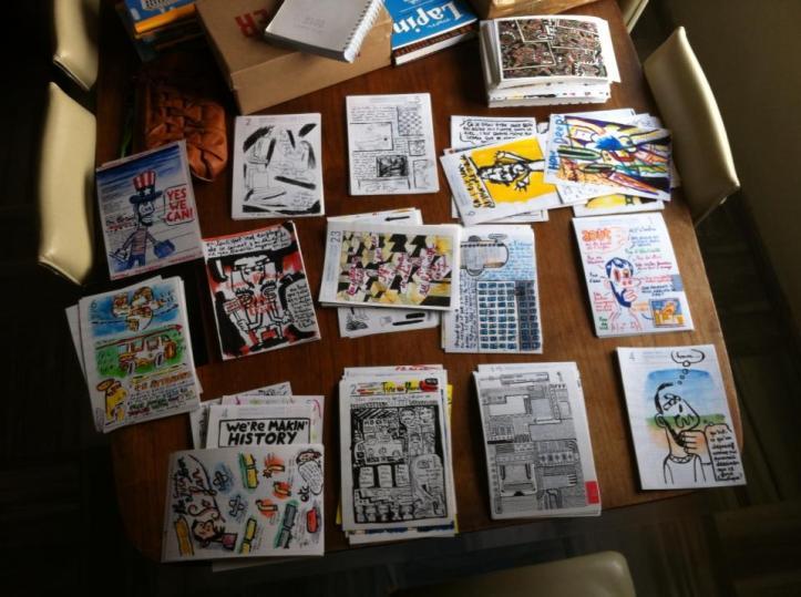 Alcuni dei 382 disegni...