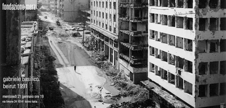 """Foto di Gabriele Basilico dalla serie """"Beirut 1991"""""""