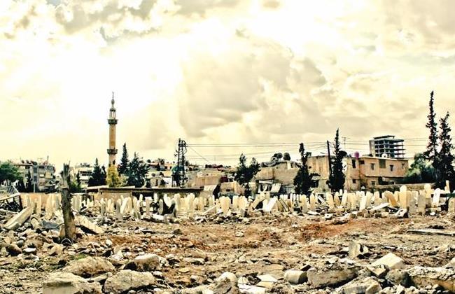 """Una delle opere presenti nel libro: """"Cemetery"""", di Abed Elmoemen Kbrite, Lens Young Sam"""