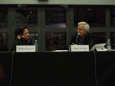 Hoda Barakat e Alain Nicolas (foto di P. R.)
