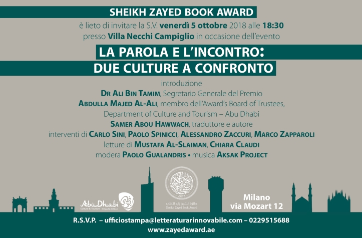 Sheikh Zayed Book Award in Milan